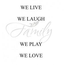 We live we laugh...