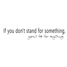 If You Don't Stand...