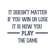 It Doesn't Matter...